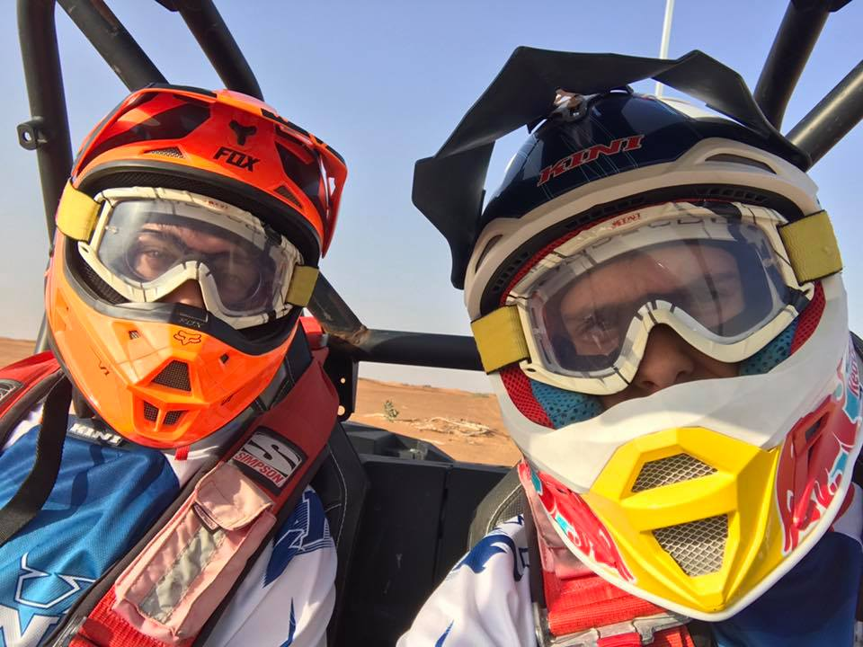 Francesco Furlan e Daniele Angeli. 2017 - Sulle dune del deserto, Dubai.
