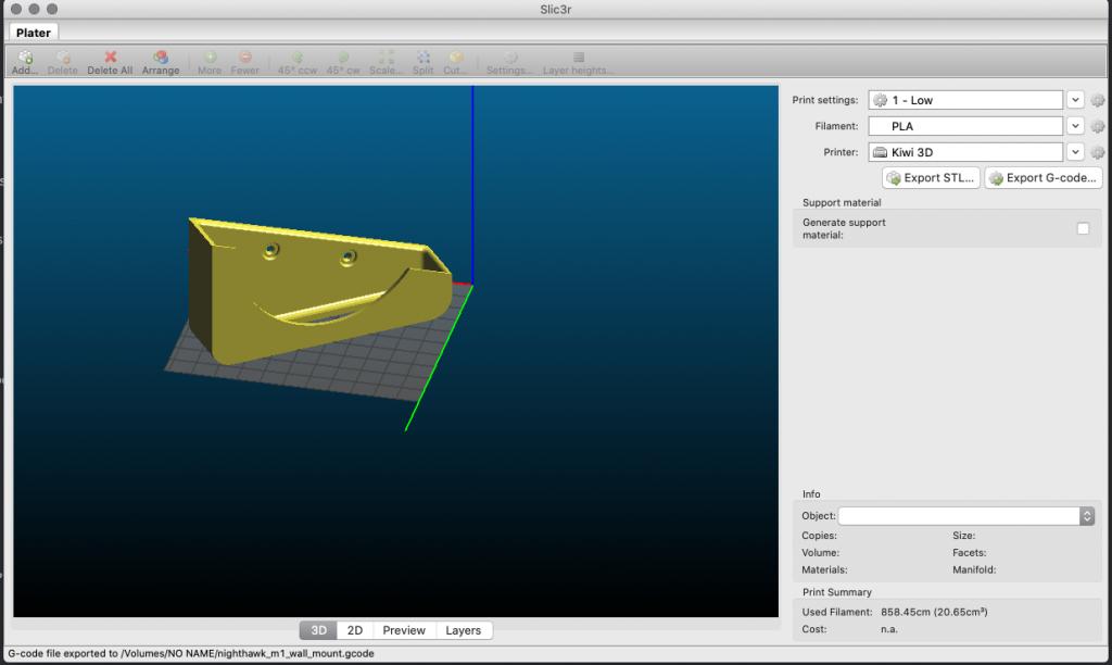 Realization of slic3r: 3D printer STL Slicer