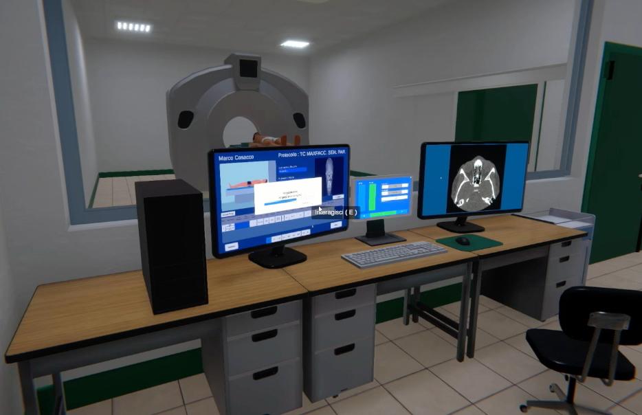 Virtual simulation of X-Ray room